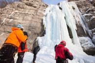 cascade de glace groupe